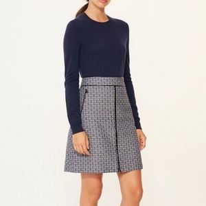 NWT Tory Burch Chaumont Skirt Gemini Link Blue